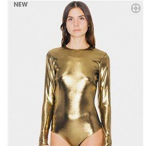 "NWT! American Apparel Metallic ""Classic"" bodysuit"